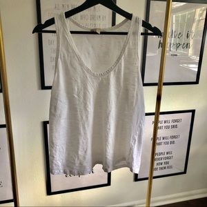 Banana Republic white tissue tank